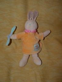 K-398  Moulin Roty konijn met jurkje - 25 cm