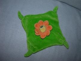 AJ-1086  Happy Horse/Verloskundigenpraktijk Bommelerwaard kroeldoekje bloem Happy Flower