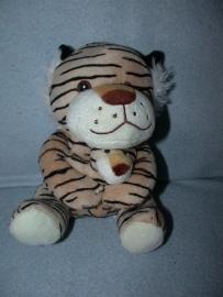 QZ-862  Zeeman tijger met kleintje - 19 cm