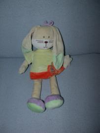 K-1396  Nicotoy konijn met jurkje - 36 cm