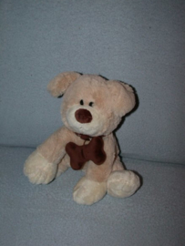 H-844  Gifa Gifts hondje Sammy met bot - 23 cm