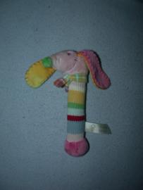 H-1029  Happy Horse rammelaar hond Pink Dinky