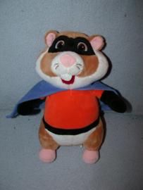 AJ-1275  Albert Heijn hamster/superheld met cape - 27 cm