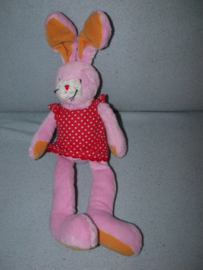 K-520  Hema konijn met jurkje - 34 cm