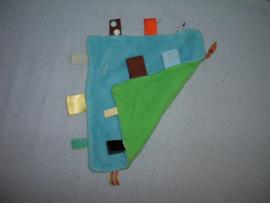 PS-1216  Snoozebaby labeldoekje, velours/tricot - knisperpapier