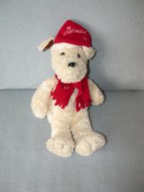 H-850  L. Dake & Zn hond met kerstmuts - 33 cm