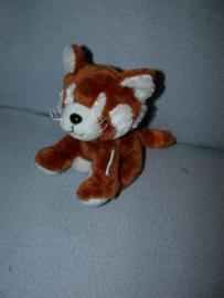 KP-1773  Keel Toys/Pippins rode panda (katbeer) - 14 cm