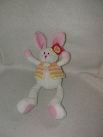 K-732  Gloednieuw! Hema konijn met vestje - 34 cm