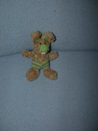 K-1398  Anna Club Plush konijntje met tuinbroek - 13 cm