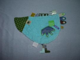 E-526  Label Label labeldoekje vogel/kip