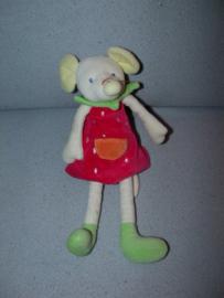 M-619  Egmont Toys muis met jurkje nr.2 - 28 cm