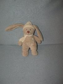 K-896  Nicotoy konijntje met muts en sjaal - 20 cm