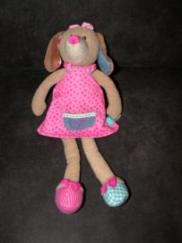 H-1002  Lief! Lifestyle hond Daisy met jurkje - 35 cm