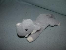 KP-1393  Happy Tails olifant - 22 cm - witte details
