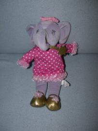 KP-2019  Hema olifant met jurkje - 30 cm