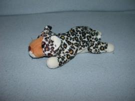 KP-1214  Happy Tails luipaard - 22 cm