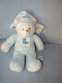 B-1815  Gloednieuw! Russ Berrie beer met pyjama - 28 cm