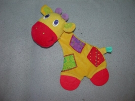 AJ-1059  Bright Stars kroeldoekje giraffe met bijtstukken