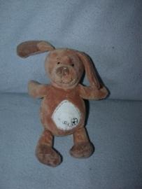 H-607  Eddy Toys hondje bruin - 23 cm
