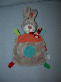 K-1260  Nicotoy kroeldoekje konijn, grijze achterkant