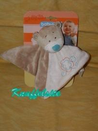 B-835  Gloednieuw! Babylove kroeldoekje beer