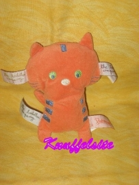 KP-767  Premaman/the Toddler Company labelpopje poes - 16 cm