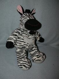 QZ-553  Nicotoy/Aldi zebra met kleintje - 32 cm