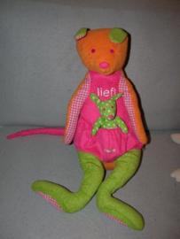 KP-1656  Lief! Lifestyle kangaroe met kindje - 45 cm