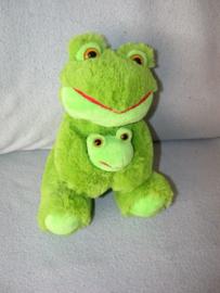 KP-1607  Nicotoy kikker met kleintje - 22 cm