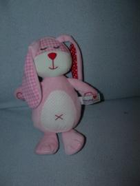 K-1213  Prenatal konijn Mix-Match, stippeltjes-buik - 28 cm