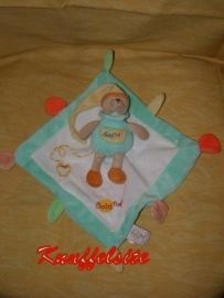 B-924  Babynat/Baby Nat kroeldoekje met beertje