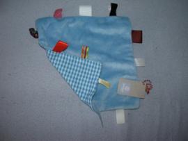 PS-1003  Gloednieuw! Snoozebaby labeldoekje, langere velours/tricot