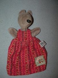 M-515  Moulin Roty handpop muis Nini met jurkje