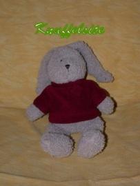 K-659  Dima/Dimpel konijn Coralie met truitje - 25 cm