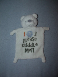 B-1627  Onbekend kroeldoekje beer - 123 please cuddle me
