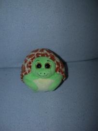 QZ-1031  Ty Beanie Ballz schildpad Zoom the Turtle - 10 cm
