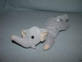 KP-1393  Happy Tails olifant - 22 cm - huidskleurige details