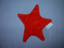 QZ-1072  Kleine Helden ster, oranjerood/fuchsia