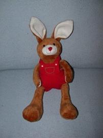 K-927  Hema konijn met tuinbroek - 35 cm