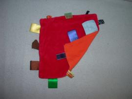 PS-1218  Snoozebaby labeldoekje, velours/tricot