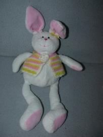 K-732  Hema konijn met vestje - 34 cm