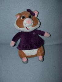 AJ-1376  Albert Heijn hamster als Kerstman/meisje - 26 cm
