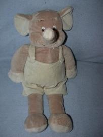 KP-1561  Tiamo olifant met tuinbroek - 41 cm
