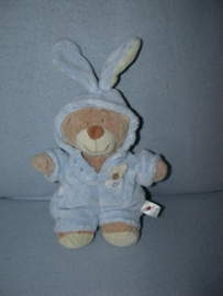 B-1812  C&A verkleedbeer met konijnenpak - 25 cm
