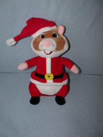 AJ-1172  Albert Heijn hamster als Kerstman - 29 cm