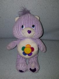 B-1765  Care Bears troetelbeertje Harmony met bloem - 21 cm