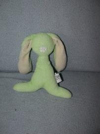 K-884  Difrax gestileerd konijn - lichtgroen / lichtgeel