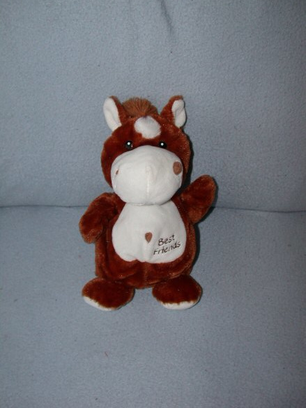 KP-1881  Nicotoy handpop paard Best Friends - 24 cm