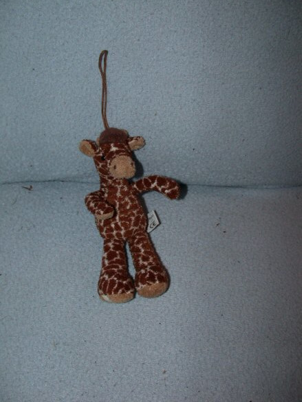 AJ-1195  Anna Club Plush sleutelhanger giraffe Sam - 19 cm