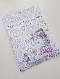 """kleurboek """"Storytelling lines"""""""